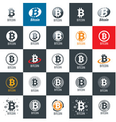 icon bitcoin vector image