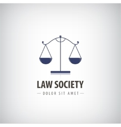 Law office logo icon the judge firm vector