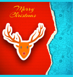 merry christmas decorative poster vector image vector image