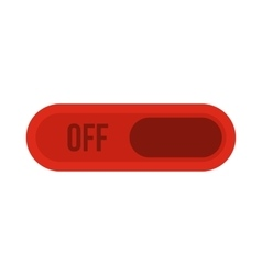 Off button icon flat style vector