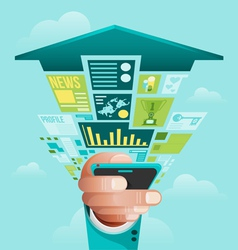 Online Business concept vector image