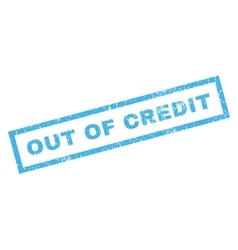 Out Of Credit Rubber Stamp vector image vector image