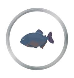 Piranha fish icon cartoon Singe aquarium fish vector image vector image