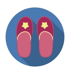 Slippers icon in flat style isolated on white vector image