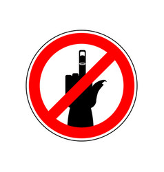 Stop cad sign ban red prohibition symbol you vector