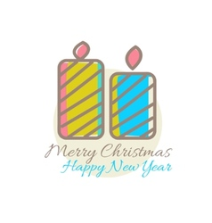 Xmas candles decoration vector