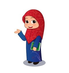 Muslim girl chibi vector