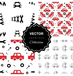 Auto service or car repair seamless pattern vector