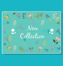 New collection floral card vector