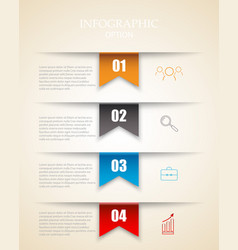 modern infographics options template with paper vector image