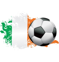Ivory coast soccer grunge vector