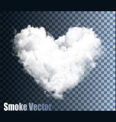 realistic transparent cloud heart vector image
