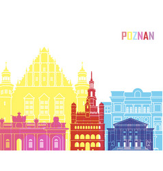 Poznan skyline pop vector