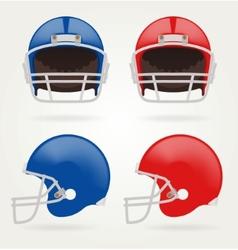 American football Set Football Helmets vector image