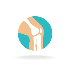 Knee joint logo vector image