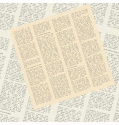 Pattern of newspapers vector