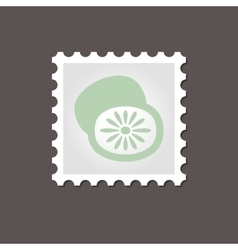 Kiwi stamp outline vector