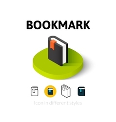 Bookmark icon in different style vector