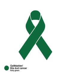 Gallbladder and bile duct cancers ribbon vector