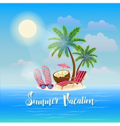 Summer beach vacation exotic tropical island vector