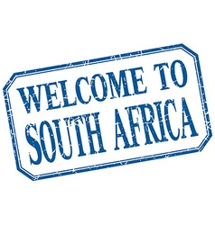 South africa - welcome blue vintage isolated label vector