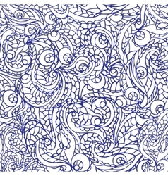 Abstract swirl ethnic seamless patternOutline vector image vector image