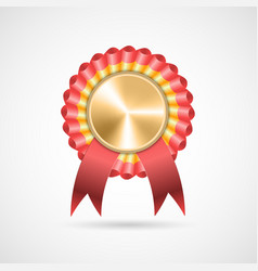Award rosette with ribbons vector
