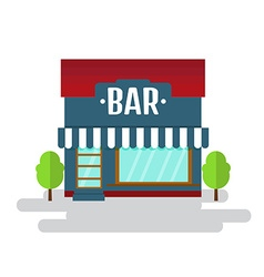 Bar or restaurant of flat style building vector