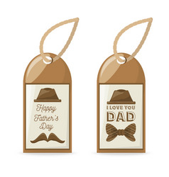 Beautiful labels to fathers day celebration design vector