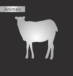 black and white style icon of sheep vector image vector image
