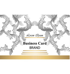 business card with luxurious damsk ornament vector image