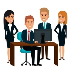 bussiness people working icon vector image vector image