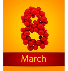 Card to Womens Day March 8 background vector image