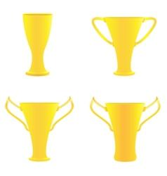 champion golden trophies vector image vector image