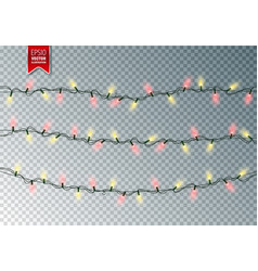christmas festive lights decorative glowing vector image vector image