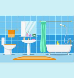 clean beautiful bathroom interior vector image