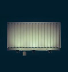 Commercial business horizontal billboard vector