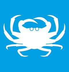 Crab icon white vector