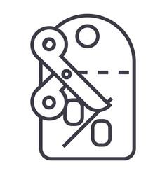discountslabelscissors line icon sign vector image vector image
