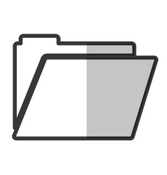 Document folder icon vector