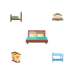 Flat bedroom set of bunk bed bed bedroom and vector