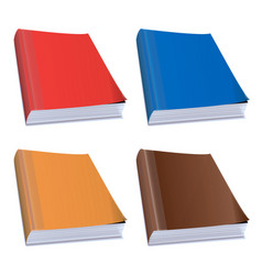 hardback books vector image vector image
