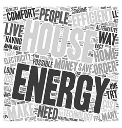 House energy efficent text background wordcloud vector