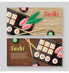 Japanese Food web Banner Japan Sushi vector image