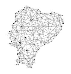 map of ecuador republic from polygonal vector image vector image