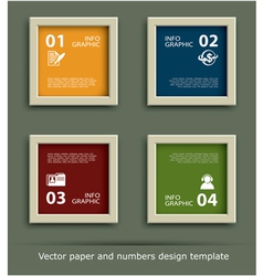 paper and numbers icon design template vector image vector image