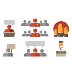 Politics Icons vote vector image