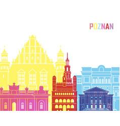 Poznan skyline pop vector