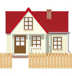 Rural house vector