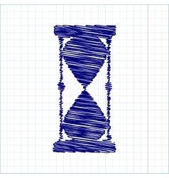 Scribble icon with pen effect vector image vector image